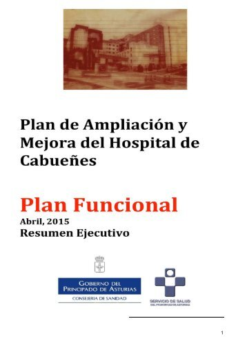 Plan de ampliación y mejora del Hospital de Cabueñes
