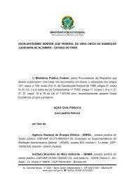 EXCELENTÍSSIMO SENHOR JUIZ FEDERAL DA ... - Xingu Vivo
