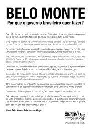 Por que o governo brasileiro quer fazer? - Xingu Vivo
