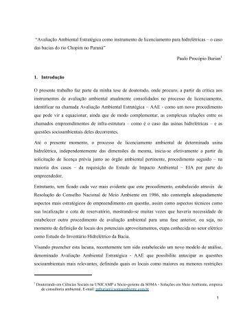 """""""Avaliação Ambiental Estratégica como instrumento de ... - ANPPAS"""