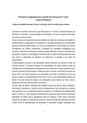 Língua Portuguesa - Escola Virtual
