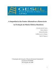 A importância das Fontes Alternativas e Renováveis na ... - Xingu Vivo