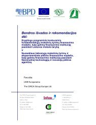 Bendros išvados ir rekomendacijos dėl - Lietuvos mokslininkų sąjunga