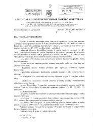 Vyriausybės nutarimo dokumentai - Lietuvos mokslininkų sąjunga
