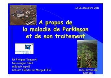A propos de la maladie de Parkinson et de son ... - AFIPA / VFA