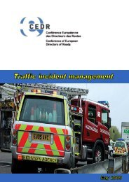 Traffic incident management - CEDR