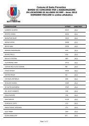 Graduatoria definitiva ERP 2012 - elenco esclusi - Comune di Sesto ...