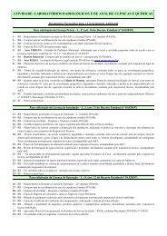LABORATÓRIOS RADIOLÓGICOS E DE ANÁLISE ... - Ipaam