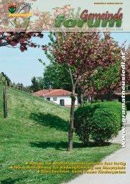 Gemeindeforum 1/09 (4,24 MB) - Marktgemeinde Gramatneusiedl
