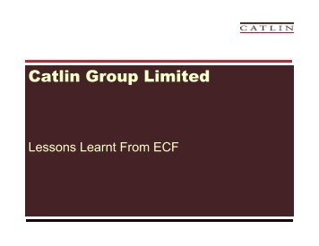 Lessons Learnt from ECF - Acord