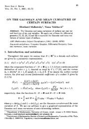 on the gaussian and mean curvature of certain surfaces