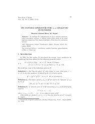 ON CONVEX OPERATOR FOR (p, q)-ANALYTIC FUNCTIONS 1 ...