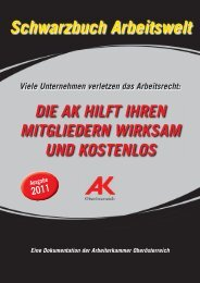 Schwarzbuch Arbeitswelt 2011 - Arbeiterkammer Oberösterreich