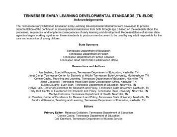 Academic Standards - Tennessee