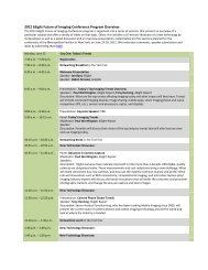 6Sight Mobile Imaging Summit 2011 Program Overview