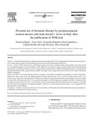Personal use of hormone therapy by postmenopausal women ...