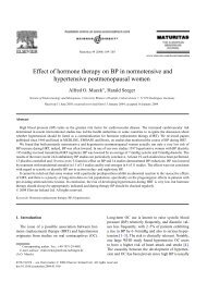 Effect of hormone therapy on BP in normotensive ... - ResearchGate