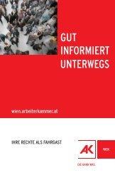 GUT INFORMIERT UNTERWEGS - Arbeiterkammer Wien