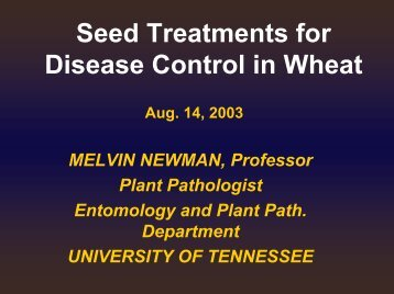 Seed Treatments for Disease Control in Wheat - UTcrops.com