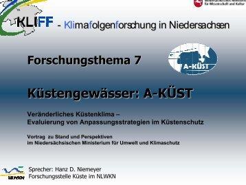 Küstengewässer: A-KÜST - KLIFF