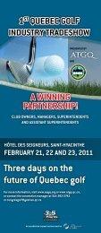 program - Association des Surintendants de Golf du Québec