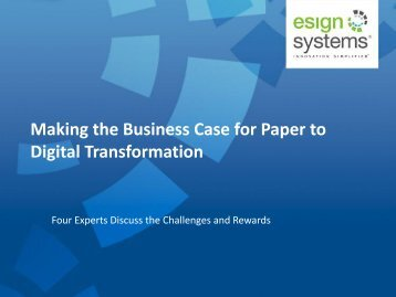 Making the Business Case for Paper to Digital Transformation