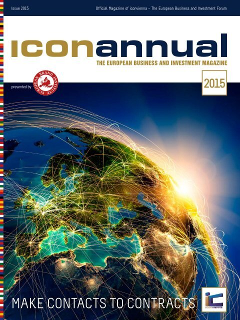 iconannual 2015 - The European Business and Investment Magazine