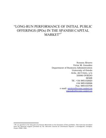 """LONG-RUN PERFORMANCE OF INITIAL ... - IPO-Underpricing"