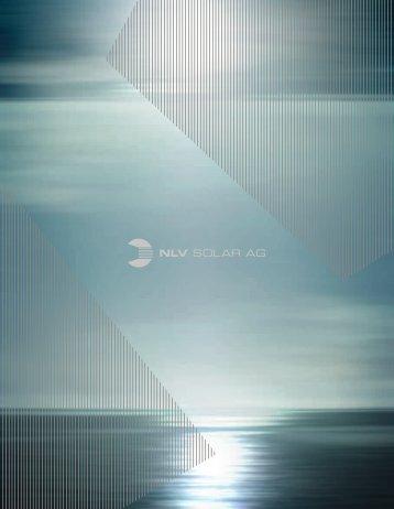 NLV Solar Brochure PDF 11.7MB - NLV SOLAR AG