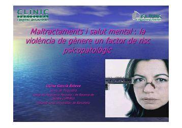Maltractaments i salut mental : la violència de gènere un factor ...