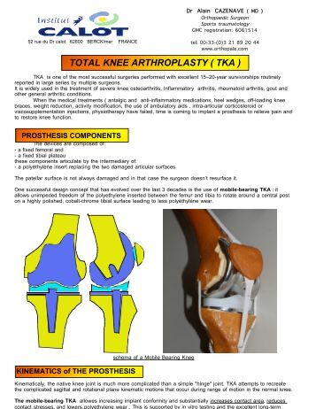 total knee arthroplasty essay Current concepts in knee replacement: features and current concepts in knee replacement: features and imaging and patellar tracking in total knee arthroplasty.