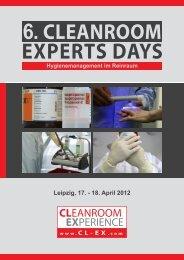 Programm 6. Cleanroom Experts Days (pdf) - GIT-LABOR.de