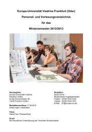 und Vorlesungsverzeichnis - Europa-Universität Viadrina Frankfurt