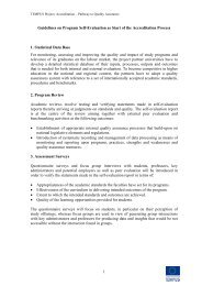 Guidelines for Self Evaluation - Tempus Accreditation