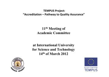 Rieke - Academic committee - Tempus Accreditation