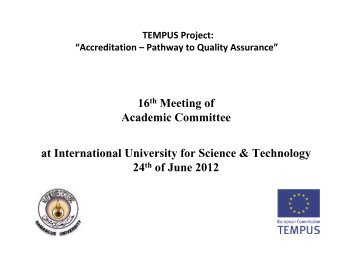 Rieke - Academic committee - 16 th meeting - Tempus Accreditation