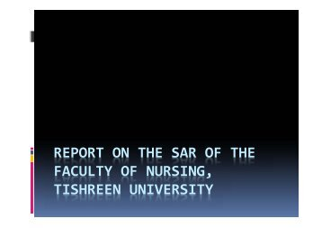 Report on the SAR of the Faculty of Nursing - Tempus Accreditation