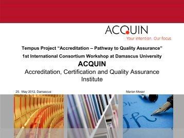 ACQUIN structure - Tempus Accreditation