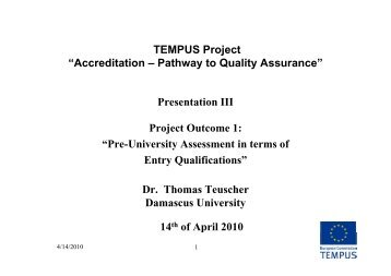Project Outcome_1 - Tempus Accreditation