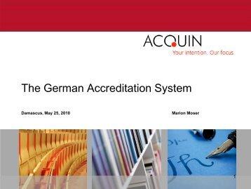 The German Accreditation System - Tempus Accreditation