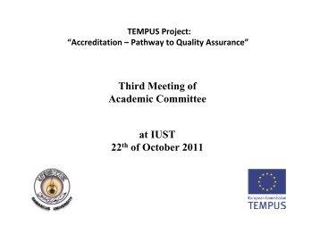 Rieke - Academic Committee - Third meeting - Tempus Accreditation