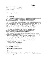 Volksschulverordnung (VSV) 412.101 - Fachstelle Elternmitwirkung