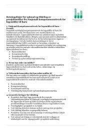 Retningslinjer for søknad og tildeling av prosjektmidler fra Nasjonalt ...