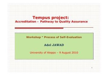 Adel Jawad NARS - Tempus Accreditation