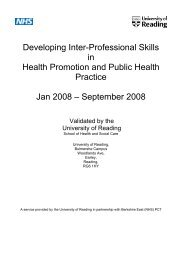 Developing Inter-Professional Skills in Health ... - Bhps.org.uk