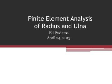 Finite Element Analysis of Radius and Ulna