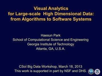 Visual Analytics for Large-scale High Dimensional Data - Center for ...
