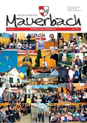 Gemeindezeitung Nr. 1 / 2012 - Mauerbach