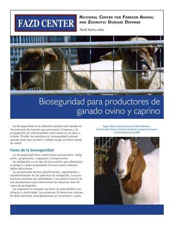 Bioseguridad para productores de ganado ovino y caprino - FAZD