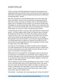 SCHRIFTSTELLER - Ahrensfluchter Theaterwerkstatt